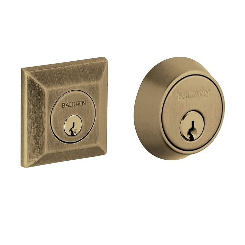 Baldwin 8255 Double Cylinder 050 Satin Brass and Black