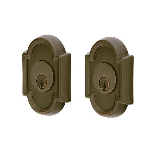 Emtek 8372 #11 Style Double Cylinder Deadbolt Medium Bronze (MB)