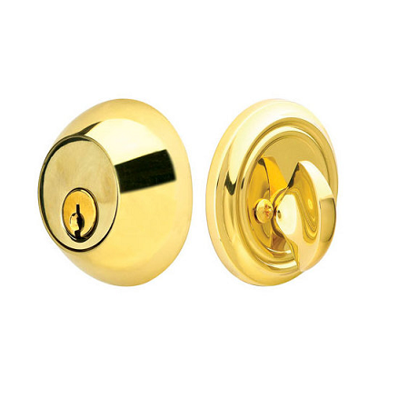 Emtek 8450 Regular Style Brass Single Cylinder Deadbolt Polished Brass (US3)