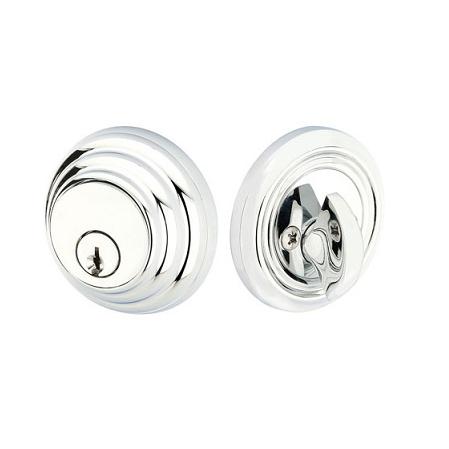 Emtek 8455 Low Profile Solid Brass Single Cylinder Polished Chrome (US26)