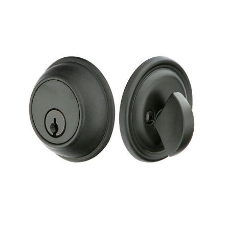 Emtek 8471 Tuscany Classic Style Single Cylinder Deadbolt Flat Black (FB)