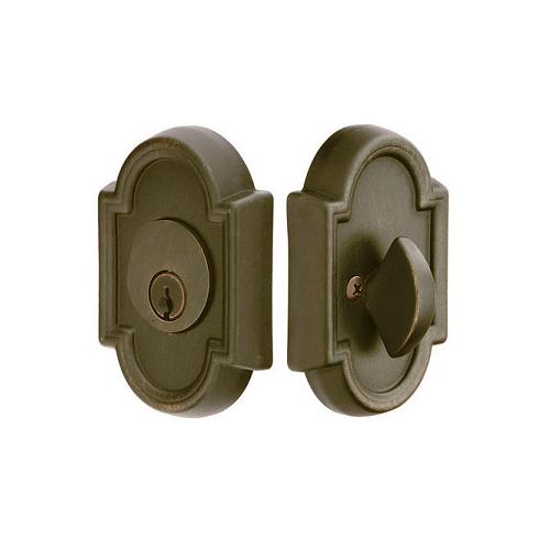 Emtek 8472 #11 Style Single Cylinder Deadbolt Medium Bronze (MB)