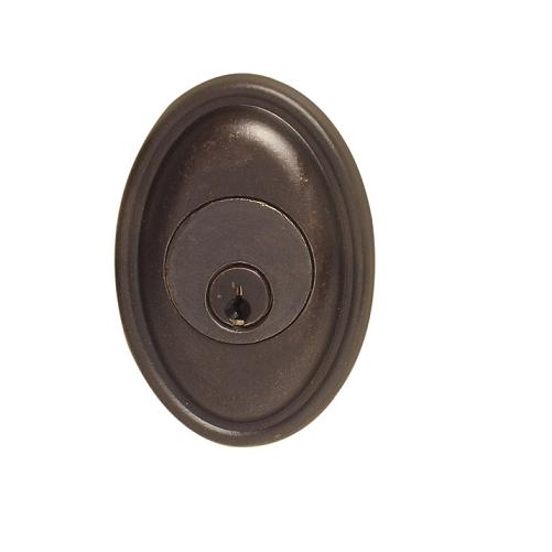 Emtek 8473 #14 Style Single Cylinder Deadbolt Medium Bronze (MB)