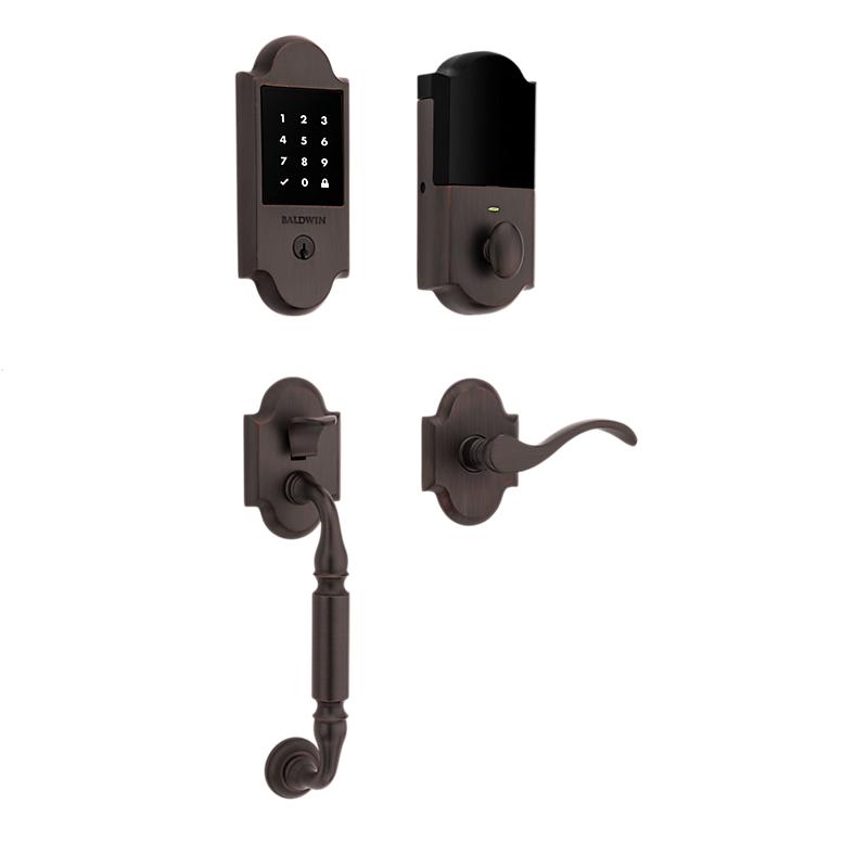 Baldwin 85306.112 Canterbury Touchscreen Keyless Handleset Venetian Bronze (112)