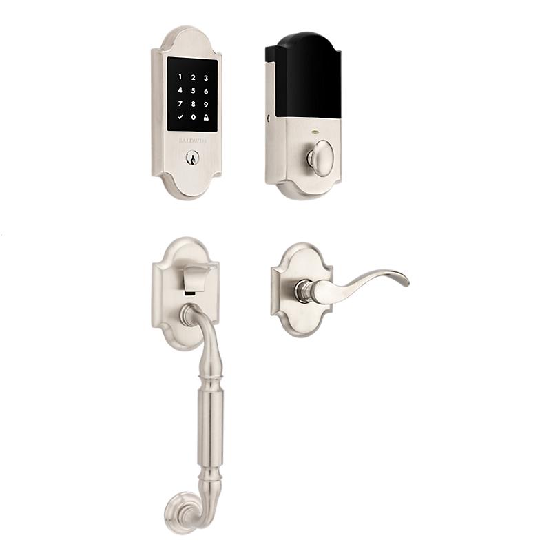 Baldwin 85306.150 Canterbury Touchscreen Keyless Handleset Satin Nickel (150)