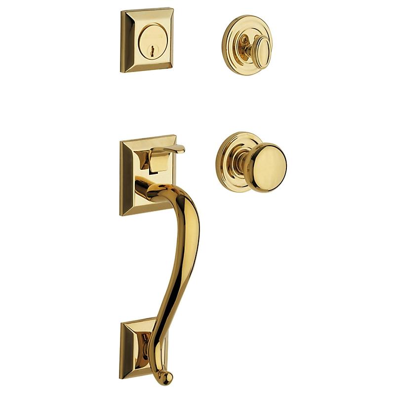Baldwin Estate 85320 Madison Handleset Lifetime Polished Brass