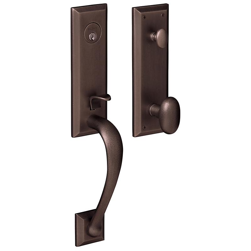 Baldwin Estate 85352 Cody 3/4 Handleset Distressed Venetian Bronze
