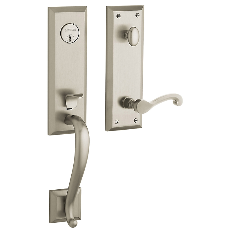 Baldwin Estate 85355 Stonegate Handleset Satin Nickel (150)