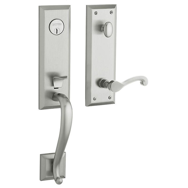 Baldwin Estate 85355 Stonegate Handleset Satin Chrome (264)
