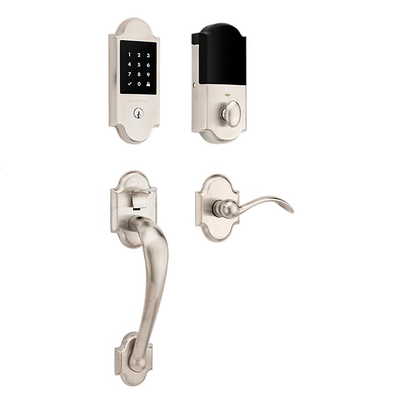 Baldwin Estate 85358.150 Boulder Touchscreen Keyless Handleset Satin Nickel (150)
