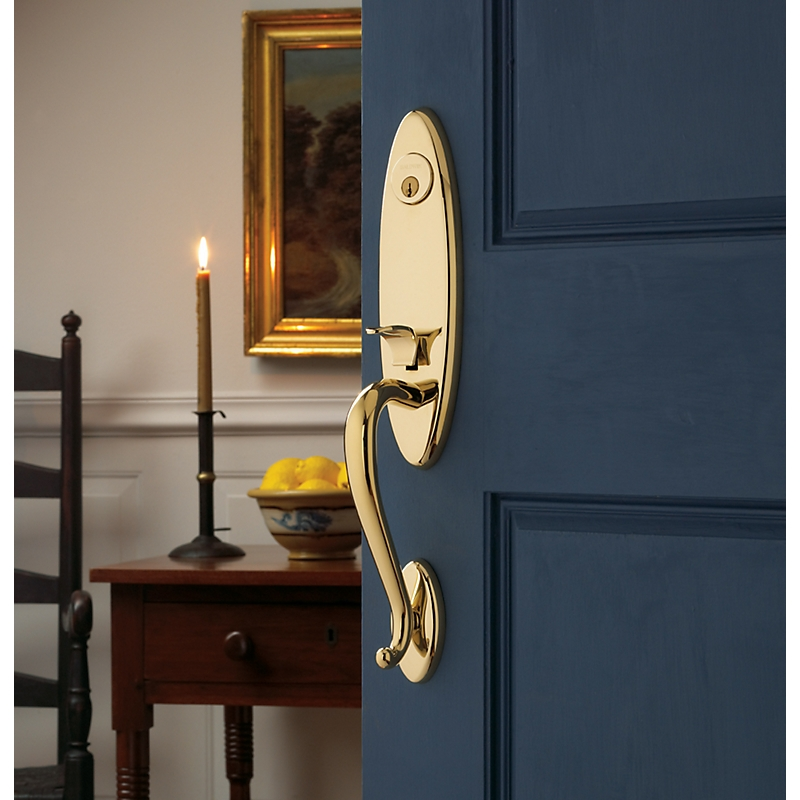 Baldwin Estate 85360 Blakely Handleset Lifetime Polished Brass (003)