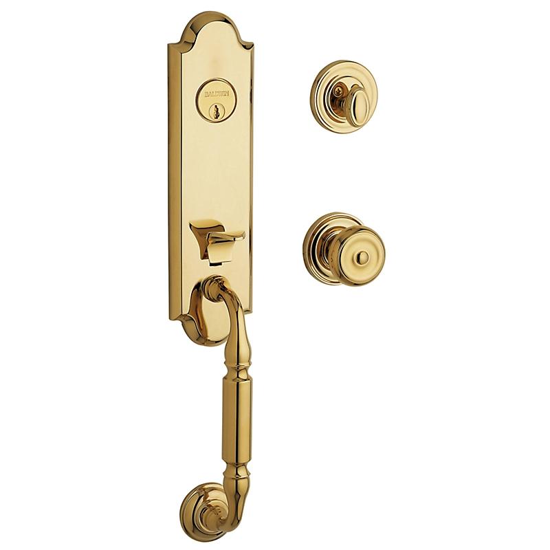 Baldwin Estate 85370 Nantucket Handleset Lifetime Polished Brass (003)