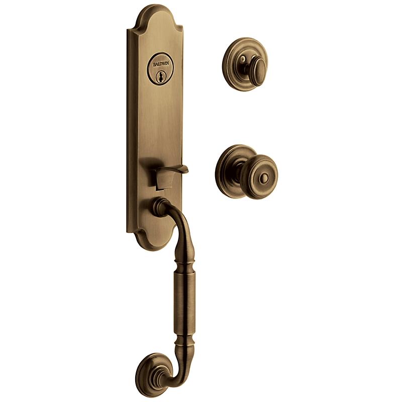 Baldwin Estate 85370 Nantucket Handleset Satin Brass & Black (050)