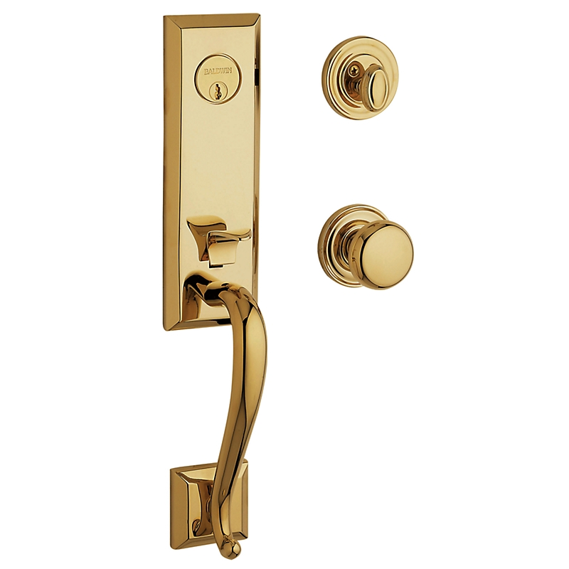 Baldwin Estate 85375 Glennon Handleset Non-Lacquered Brass (031)n Handleset