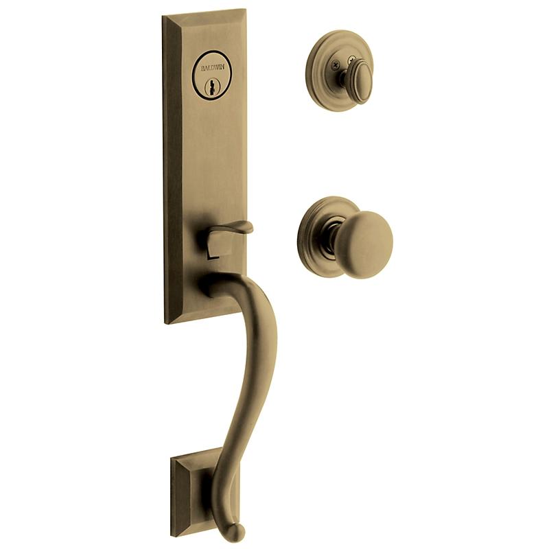 Baldwin Estate 85375 Glennon Handleset Satin Brass & Black (050)