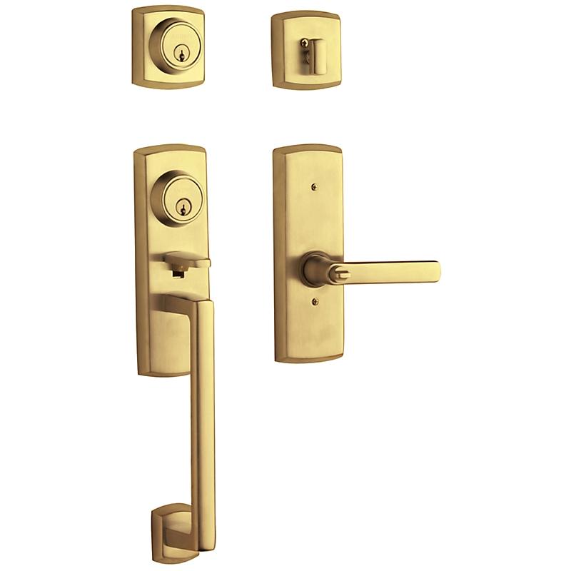 Baldwin 85385 Soho Handleset w/Soho Lever in Lifetime Polished Brass (003)