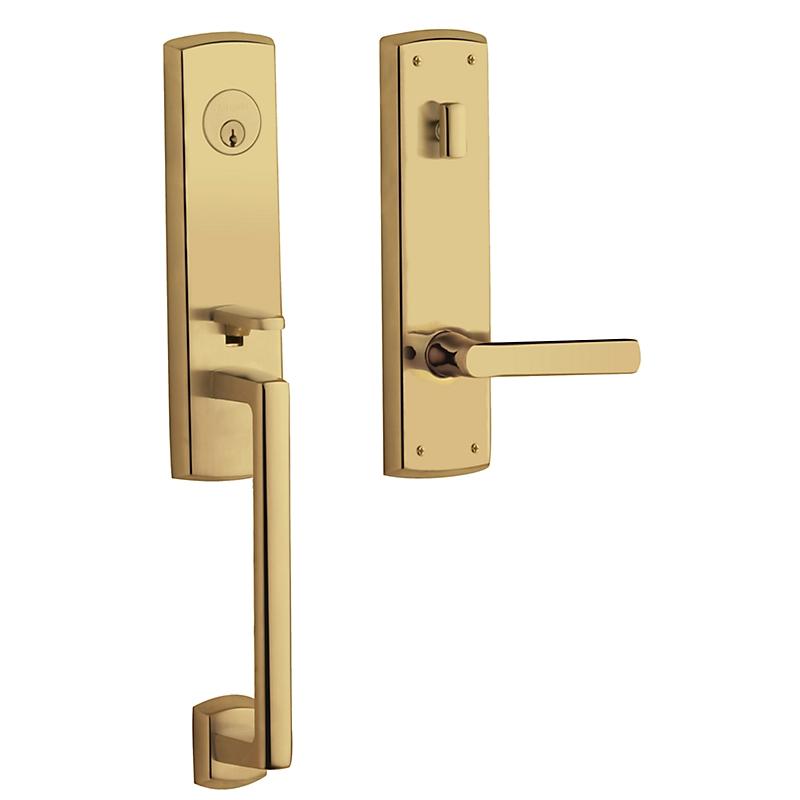 Baldwin Estate 85387 Soho 3/4 Handleset Lifetime Polished Brass (003)