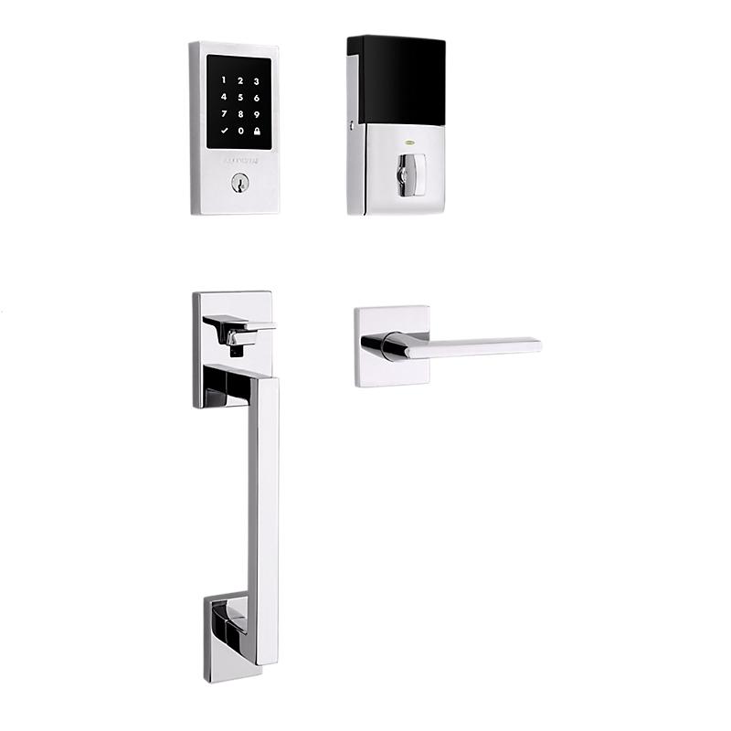 Baldwin Estate 85393.260.ZW Z-Wave Minneapolis Touchscreen Keyless Handleset Polished Chrome (260)