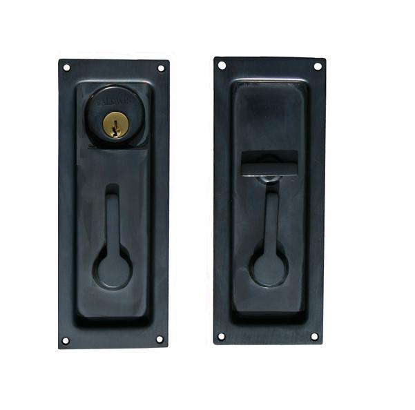 Baldwin 8590, 8595 Entrance Sliding Door Lock shown in Oil Rubbed Bronze