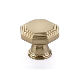 Emtek 86465, 86466 Transitional Heritage Midvale Cabinet Knob Satin Brass