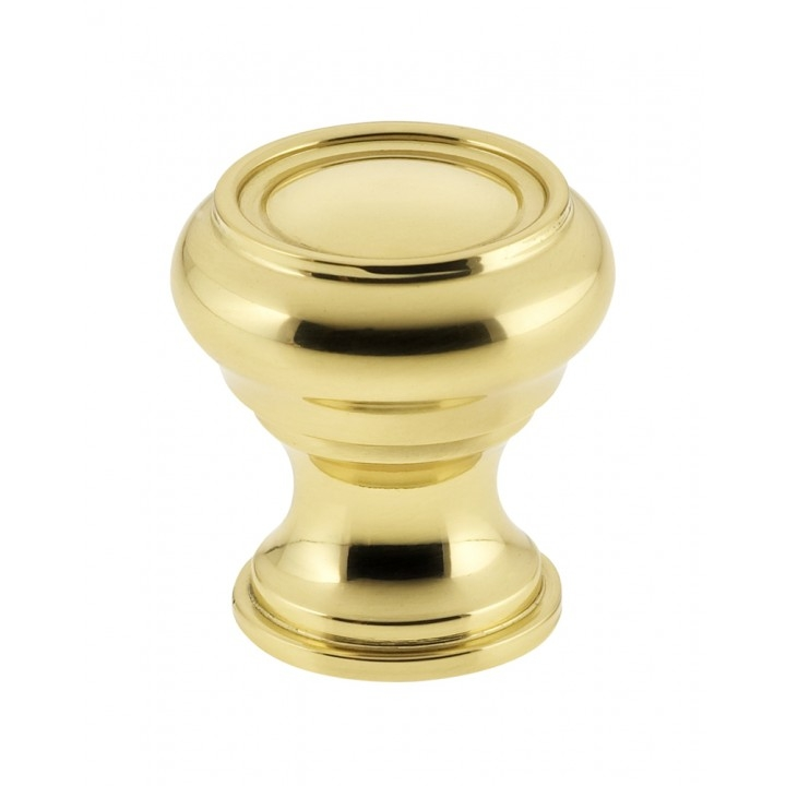 Omnia 9045/31 Cabinet Knob from the Traditions Collection Polished Brass
