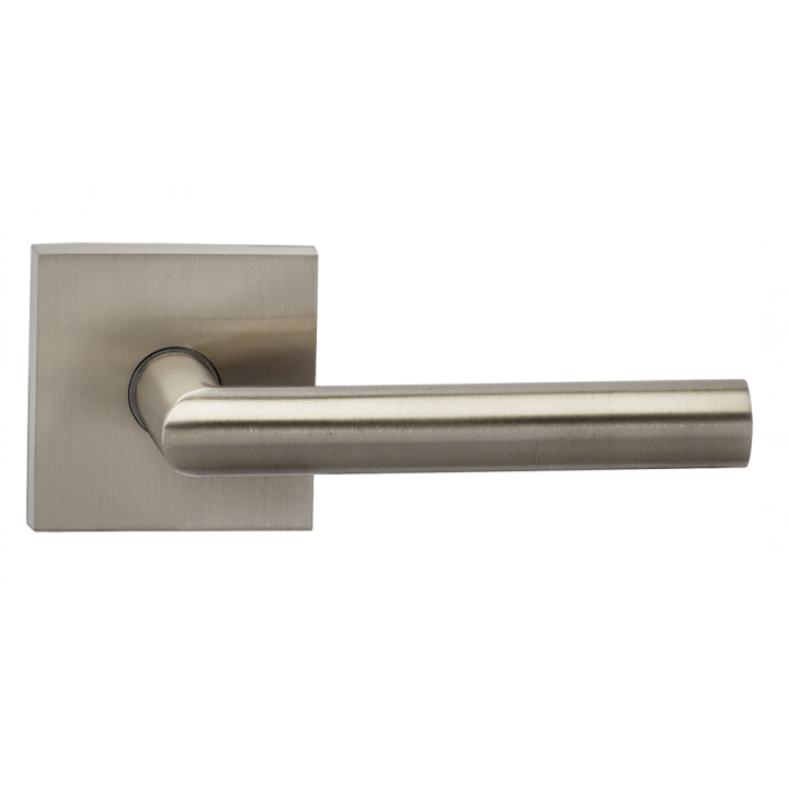 Omnia 912SQ-15 Modern Door Lever Set with Square Rose