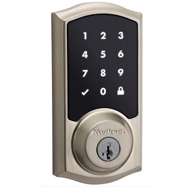 Kwikset 915TRL-15S Smartcode Touchscreen Electronic Deadbolt with Smartkey