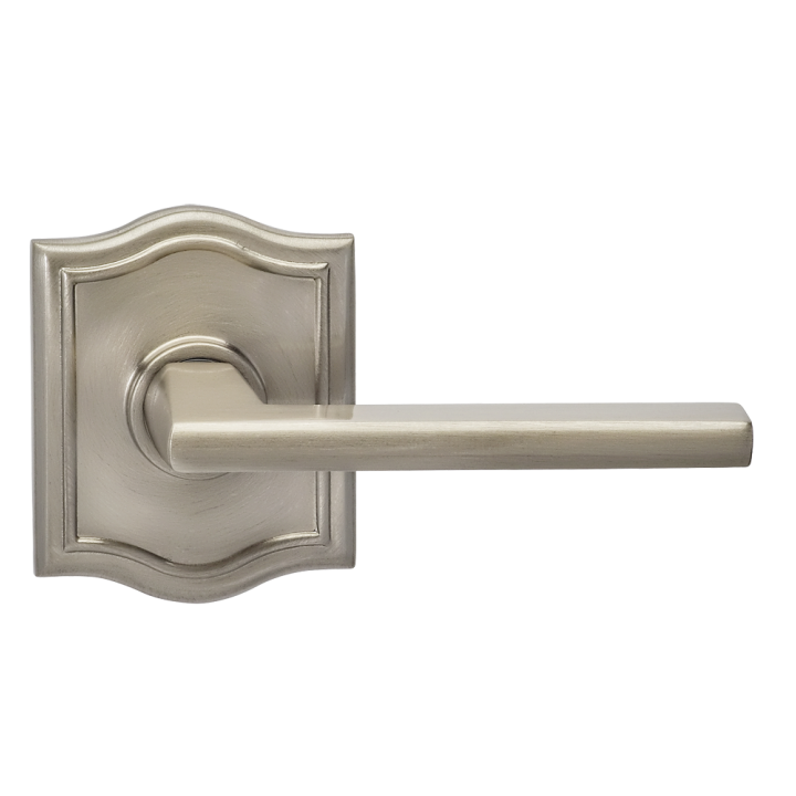 Omnia 925AR-15 Contemporary Door Lever Set with Arched Rose