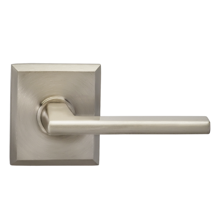 Omnia 925RT-15 Contemporary Door Lever Set with Rectangular Rose