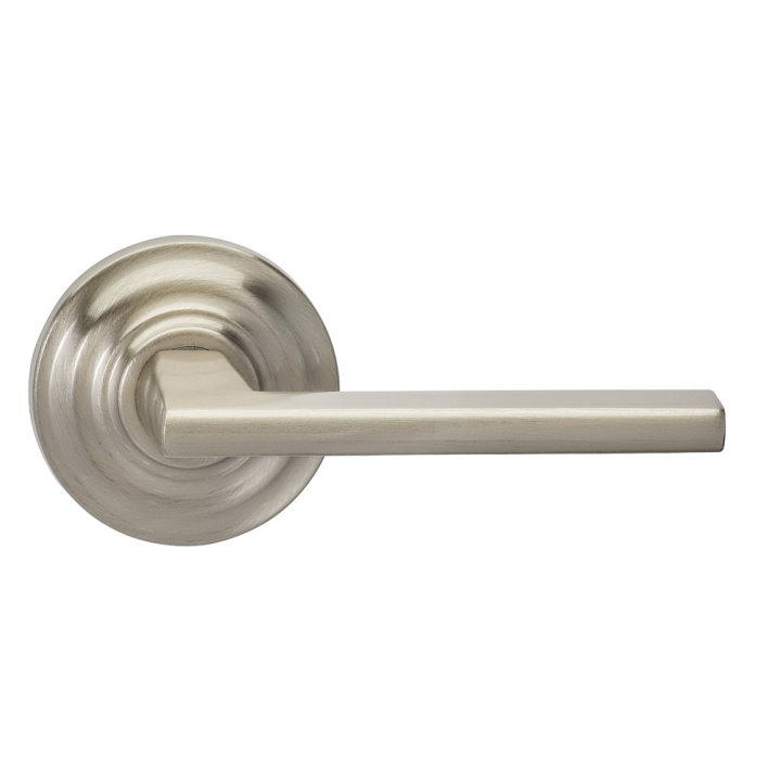 Omnia 925TD-15 Contemporary Door Lever Set with Traditional Rose