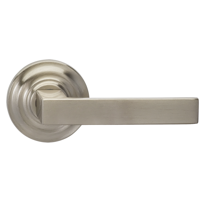 Omnia 930TD-15 Square Door Lever Set with Traditional Rose