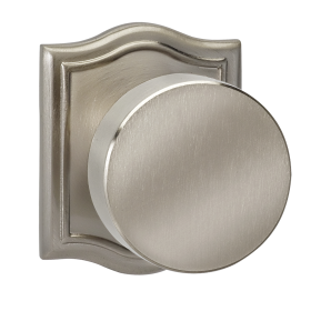 Omnia 935AR-15 Modern Door Knob Set with Arched Rose