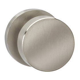 Omnia 935MD Modern Door Knob Set with Modern Rose from the Prodigy