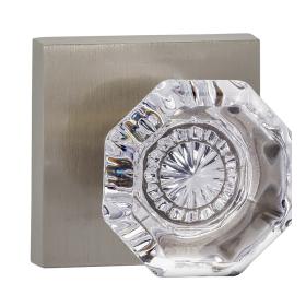 Omnia 955SQ-15 Glass Door Knob Set with Square Rose