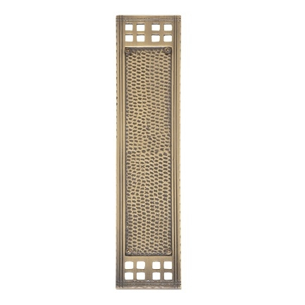Brass Accents A05-P5350 Arts and Crafts Push Plate