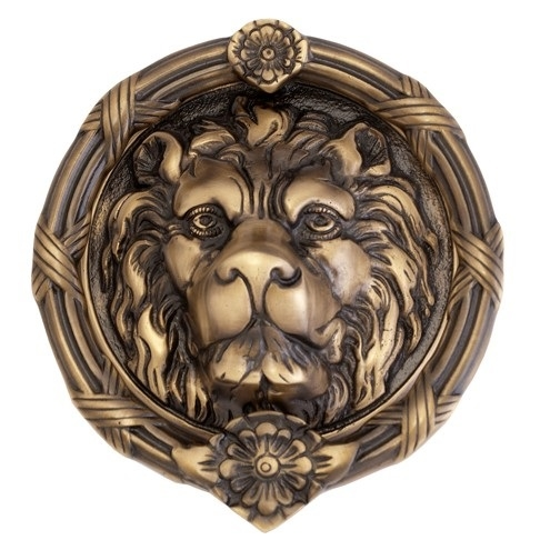 Brass Accents A07-K5100 Leo Lion Knocker Antique Brass (609)