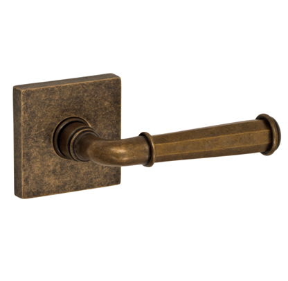 Fusion St. Charles Lever Set AN with Square Rose in Medium Bronze