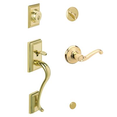 F58 Add Handleset w/Flair Lever 505 Lifetime Bright Brass