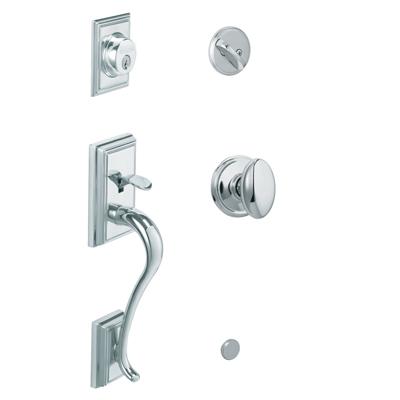 F58 Add Handleset 625 Bright Chrome w/Siena Knob