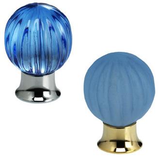 Omnia 4405 Azure Glass Cabinet Hardware