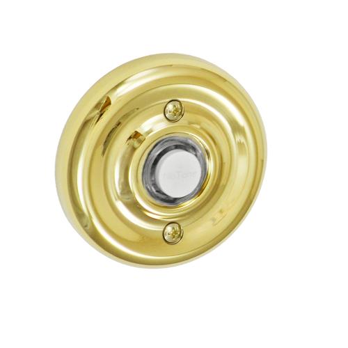 Fusion B-EL-A7 Contoured Radius Doorbell Lifetime Brass