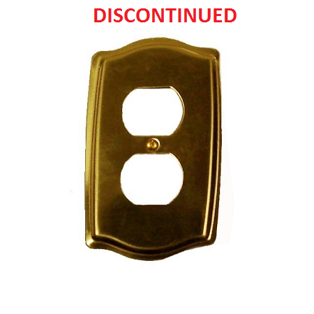Brass accents colonial single outlet plate low price for Outlet colonial