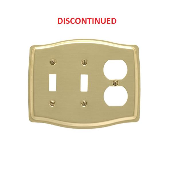 Brass accents colonial triple double switch single for Outlet colonial