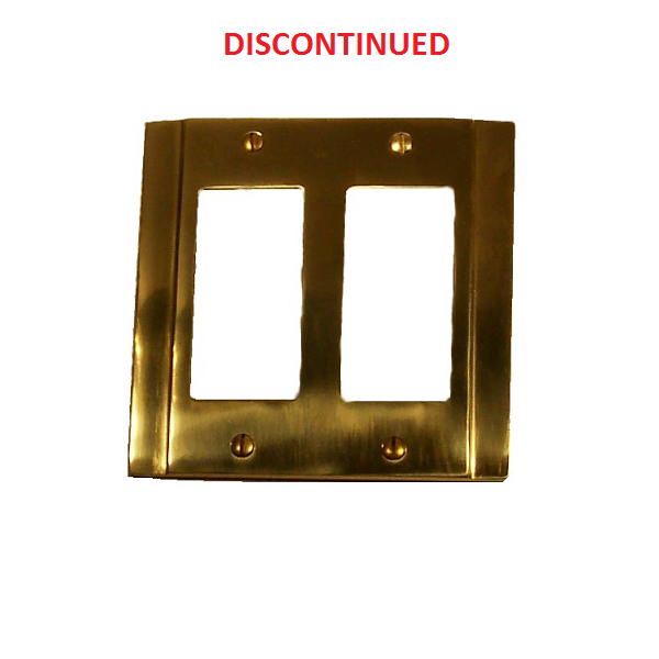 Brass Accents Contemporary Double Gfci Switch Plate Low