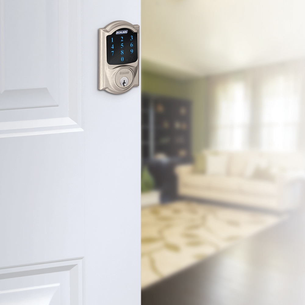 Schlage BE469NX-CAM Camelot Touch Screen Deadbolt with Nexia Home Intelligence