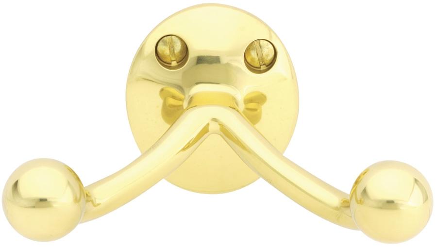 Emtek 2607 Brass Double Hook Polished Brass (US3)