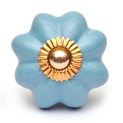 PotteryVille Turquoise Flower Cabinet Knob