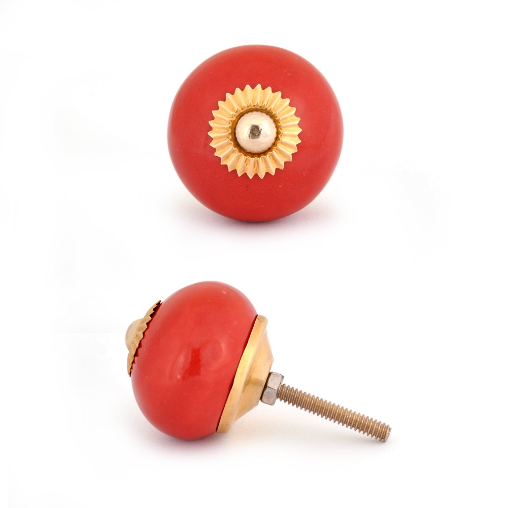 PotteryVille Red Colored Cabinet knob