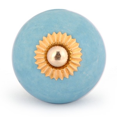 PotteryVille Turquoise Colored Cabinet knob