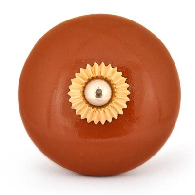 PotteryVille Brown Ceramic Cabinet Knob